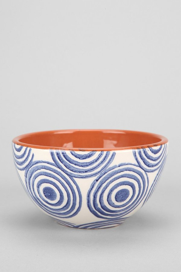Urban Outfitters Hand-Stamped Terracotta Bowl