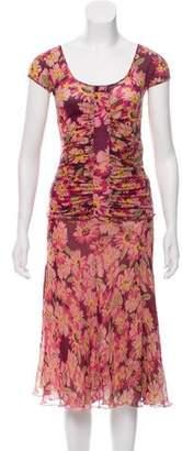 Blumarine Silk Floral Skirt Set