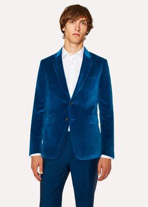 Paul Smith Men's Slim-Fit Blue Velvet Blazer