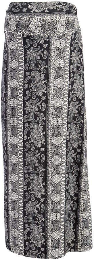 Black Paisley Maternity Maxi Skirt