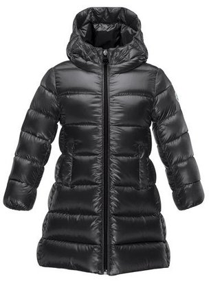 Moncler Suyen Hooded Down Puffer Coat, Black, Size 8-14 $610 thestylecure.com