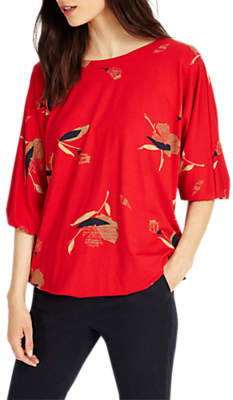 Phase Eight Meredith Blouson Top, Red