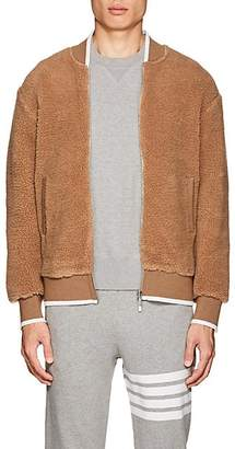 Thom Browne Men's Sherpa Zip-Front Bomber Jacket - Beige, Tan