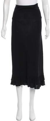 Ralph Lauren Ruffle-Trimmed Midi Skirt