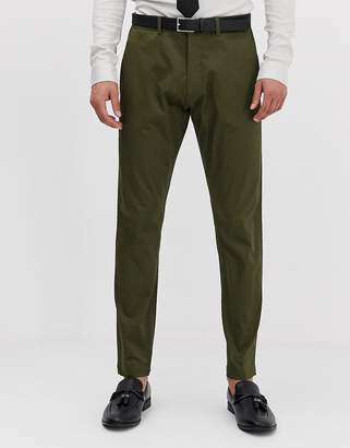 Esprit slim fit suit trouser in khaki