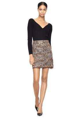 Free Ground Shipping at Milly Milly Geo Sequined Tulle Modern Mini Skirt