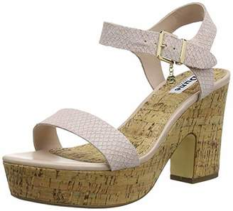 Dune Women's Illana Ankle Strap Sandals, Pink Blush-Reptile, 4 (37 EU)