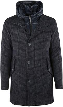 Herno Hooded Single Breasted Coat