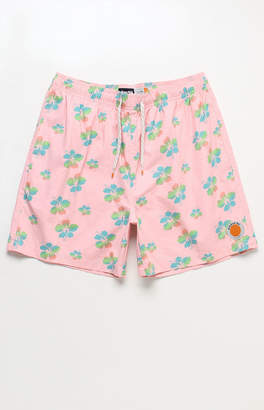 "ambsn Hibiscus 17"" Swim Trunks"