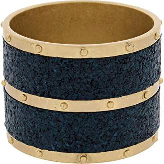 Marc by Marc Jacobs Womens High Tide Cork Studded Bangle Bracelet Blue