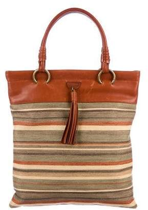 Celine Vintage Striped Canvas Tote