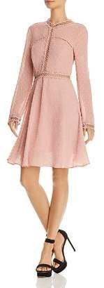 Bardot Cherie Long-Sleeve Embroidered Dress