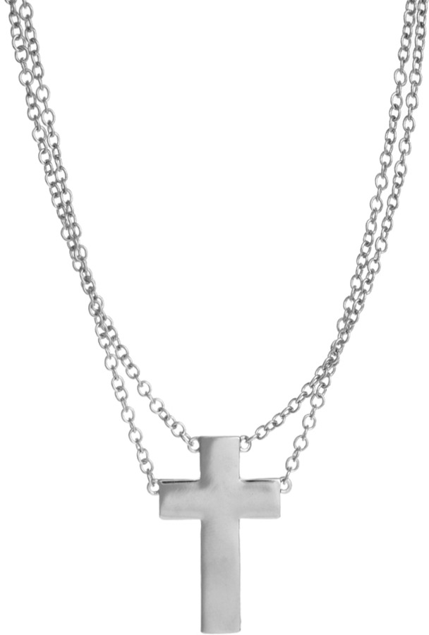 Asos Solid Cross Charm Necklace