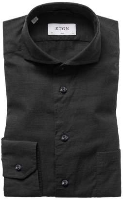 Eton Slim Fit Solid Dress Shirt