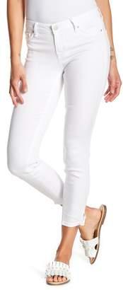 Tractr High Waist Crop Tie Hem Jeans