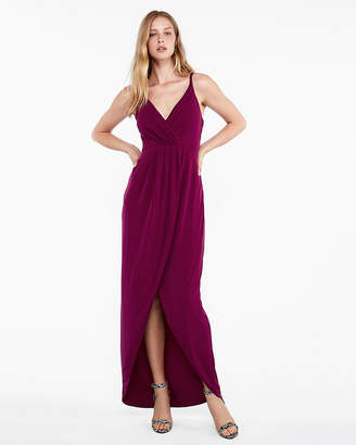 Express Surplice Wrap Maxi Dress
