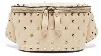Valentino Rockstud Spike Quilted Leather Belt Bag - Womens - Ivory