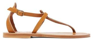 K. Jacques Buffon Ankle Strap Leather Sandals - Womens - Tan
