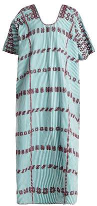 Pippa Holt - No.65 Embroidered Kaftan - Womens - Green Multi