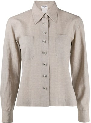 Chanel Pre-Owned 1990 cutaway collar shirt