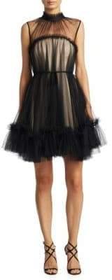 Zac Posen Mesh A-Line Dress