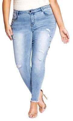 City Chic Plus Harley Bling Skinny Jeans