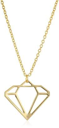 ECRU metal Diamond Cutout Necklace