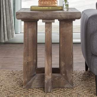 Bungalow Rose Pinellas Reclaimed Pine End Table