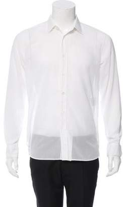 Saint Laurent Woven Button-Up Shirt