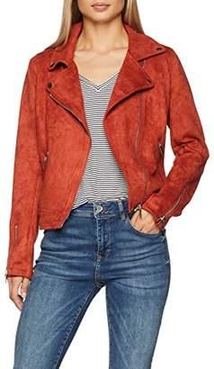 New Look Women's Suedette Biker Jacket,(Manufacturer Size:18)