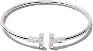 Tiffany & Co. & Co 18kt white gold T wire diamond cuff