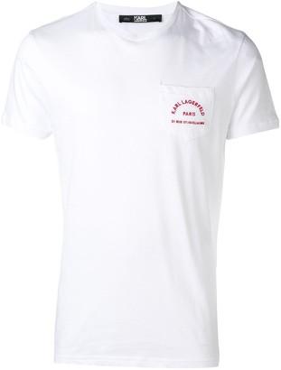 Karl Lagerfeld Paris chest pocket T-Shirt