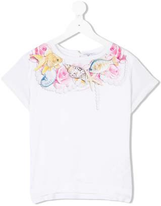 MonnaLisa mixed-print T-shirt