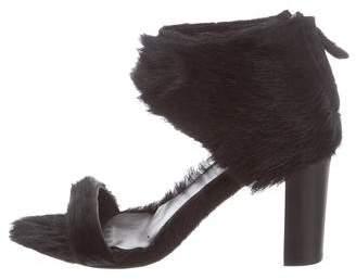 Zero Maria Cornejo Ponyhair Ankle Strap Sandals