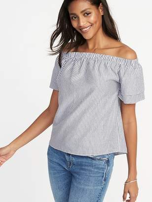 Old Navy Off-the-Shoulder Tiered-Ruffle Swing Top for Women
