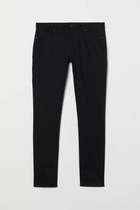 H&M Twill Pants Super Skinny Fit - Black