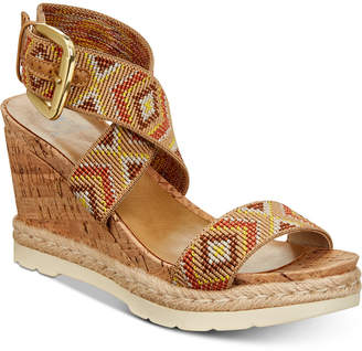 White Mountain Pearl Platform Espadrille Wedge Sandals Women's Shoes