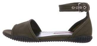 Prada Sport Ankle-Strap Grosgrain Sandals