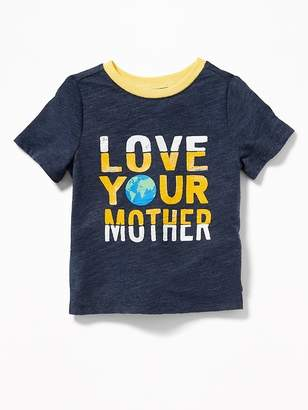 """Old Navy """"Love Your Mother Earth"""" Tee for Toddler Boys"""