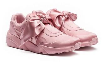 FENTY Puma x Rihanna Women's Satin Bow Sneakers $160 thestylecure.com