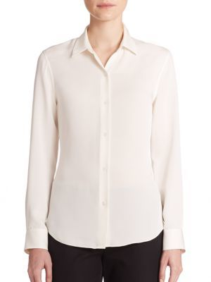 Theory Tenia Modern Silk Blouse $245 thestylecure.com