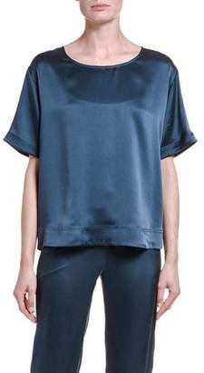 Giorgio Armani Silk High-Low Tunic Blouse
