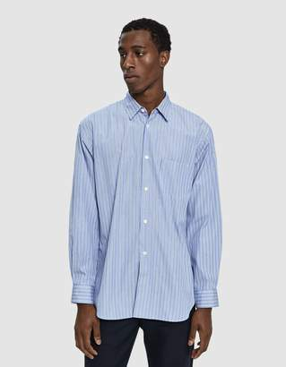 Comme des Garcons Forever Embroidered Sleeve Button Up Shirt