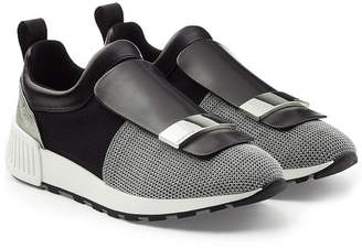 Sergio Rossi Slip-On Sneakers with Leather and Mesh