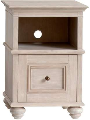 Pottery Barn Teen Chelsea Bedside Table, Water-Based Brushed Fog