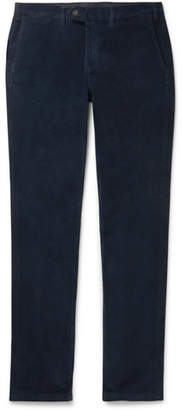 Canali Navy Cotton-blend Corduroy Trousers - Navy