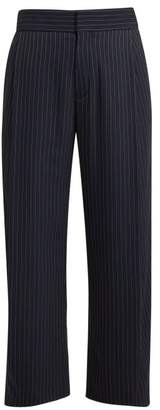 Chloé High Rise Pinstriped Twill Trousers - Womens - Navy Stripe