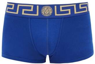 Versace Medusa Logo Cotton Blend Boxer Briefs - Mens - Blue