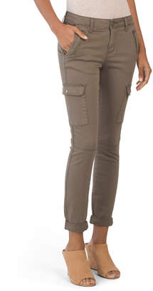 Juniors Solid Roll Cuff Cargo Pants