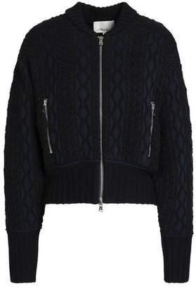 3.1 Phillip Lim Jacquard-Knit Cotton-Blend Bomber Jacket